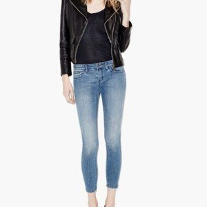 The Kooples Short Fit Distressed Skinny Jeans